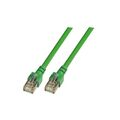 Patchkabel RJ45, SF/UTP, Cat.5e, PVC, CCA, 0.5m, grün