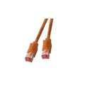 Patchkabel RJ45, S/FTP, Cat.6A, TM21, UC900, 15m, orange