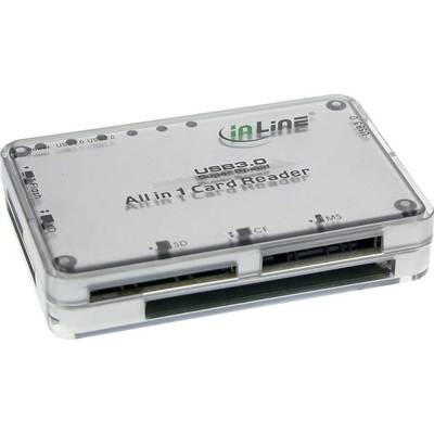 InLine Cardreader, USB 3.0, all in 1, silber