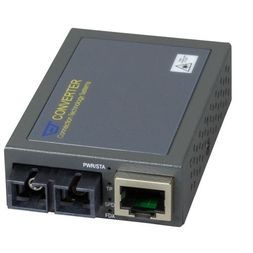 Compact Media Konverter RJ45-SC, 2km, MM, Fast Ethernet