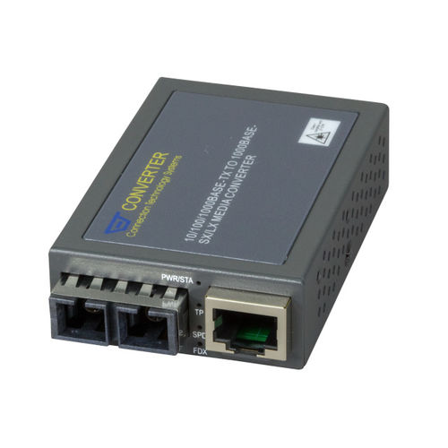 Compact Media Konverter RJ45-SC, 550m, MM, Gigabit Ethernet