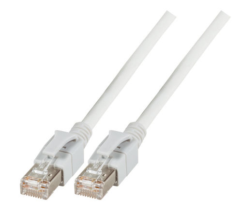 INFRALAN? Patchkabel RJ45, S/FTP, Cat.6A, VC LED, 0,5m, weiß