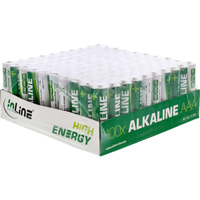 InLine Alkaline High Energy Batterie, Micro (AAA), 100er Pack