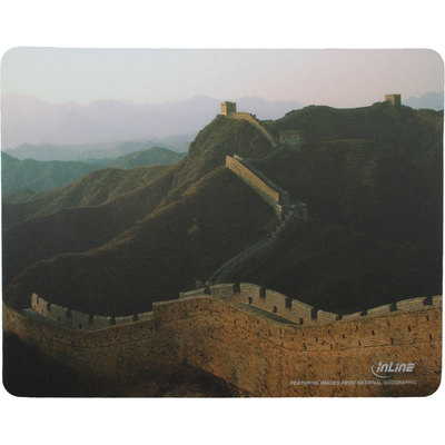 InLine Maus-Pad Recycled Foto, Great Wall, 240x190x3mm