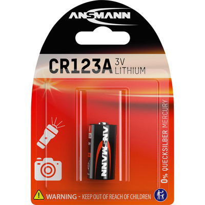 Ansmann Lithium Photobatterie 3V CR123A, 1er Blister (5020012)
